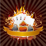элементы казино Стоковое Изображение RF