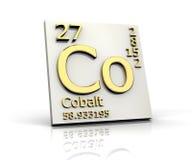 элементы кобальта формируют периодическую таблицу иллюстрация штока