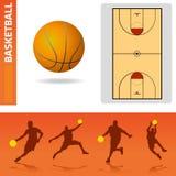 элементы конструкции баскетбола иллюстрация вектора