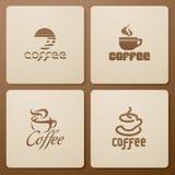 элементы конструкции кофе Стоковое Фото
