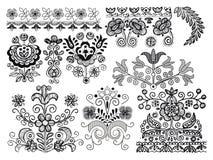 элементы конструкции орнаментальные Стоковое Фото