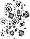 элементы конструкции флористические Стоковая Фотография RF