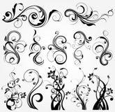 элементы конструкции флористические иллюстрация вектора