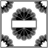 элементы конструкции deco собрания граници искусства иллюстрация штока
