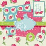 Элементы конструкции Scrapbook - цветки Rose Стоковые Изображения