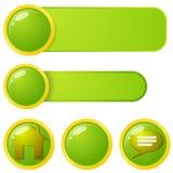 Элементы меню сети Стоковое Изображение RF