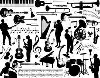 элементы музыкальные Стоковое Изображение