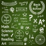 элементы Назад-к-школы нарисованный вручную Стоковые Фото