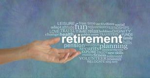 Элементы облака бирки слова выхода на пенсию Стоковые Изображения RF