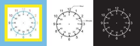 Элементы образования говоря время 3 в 1 векторе иллюстрации иллюстрация вектора