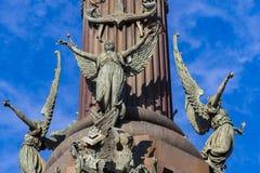 Элементы памятника Колумбус стоковая фотография rf