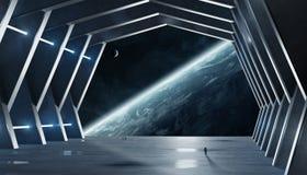 Элементы перевода 3D огромного космического корабля залы внутренние этого отображают иллюстрация штока