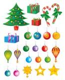 элементы рождества искусства Стоковые Изображения RF