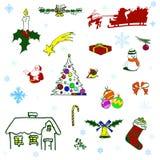 элементы рождества Стоковая Фотография RF
