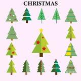 Элементы рождественской елки пакуют - логотип - бесплатная иллюстрация