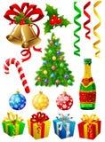 элементы рождества Стоковое Изображение RF