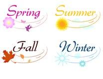 элементы сезонные Стоковое Изображение