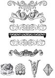 элементы собрания декоративные Стоковые Изображения