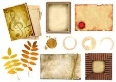 элементы собрания scrapbooking Стоковые Изображения