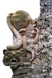 Элементы традиционного балийского камня высекая внешний орнамент изолированный на белой предпосылке стоковые изображения rf
