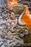 Элементы традиционного балийского камня высекая внешний орнамент стоковое фото rf