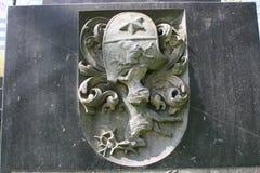Элементы украшения старых каменных памятников стоковое изображение rf