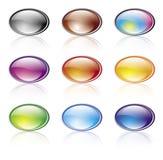 элементы цвета глянцеватые Стоковые Изображения