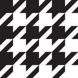 Элементы черно-белой классической картины Houndstooth большие Стоковое фото RF