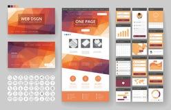 Элементы шаблона и интерфейса дизайна вебсайта стоковые изображения rf