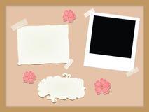 элементы corkboard иллюстрация вектора