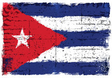 Элементы Grunge с флагом Кубы стоковые фото