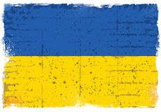 Элементы Grunge с флагом Украины Стоковое Изображение