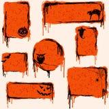 элементы grungy halloween конструкции собрания Стоковое Изображение RF