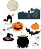элементы halloween бесплатная иллюстрация