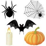 элементы halloween иллюстрация штока