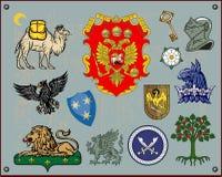 элементы heraldic Стоковое Изображение RF