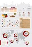 элементы infographic Стоковое Изображение RF