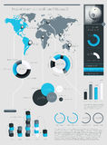 Элементы Infographics с кнопками Стоковое Изображение