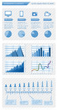 Элементы Infographics Стоковые Изображения