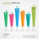Элементы Infographics diagram с 6 шагами, вариантами, прямоугольным графиком, диаграммой, диаграммой, сроком, вектором диаграммы Стоковая Фотография RF