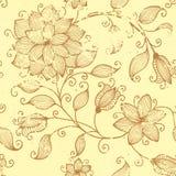 Элемент картины год сбора винограда вектора флористический безшовный. Стоковые Изображения RF