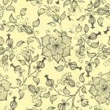 Элемент картины год сбора винограда вектора флористический безшовный. Стоковые Фотографии RF