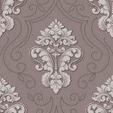 Элемент картины объемного штофа вектора безшовный Элегантная роскошь выбила текстуру для обоев, предпосылок и страницы Стоковые Фото