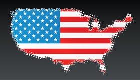 Элемент конструкции карты полутонового изображения США самомоднейший Стоковое Фото