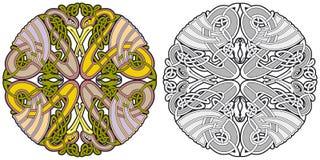 элемент конструкции птиц животных кельтский иллюстрация вектора