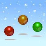 Элемент конструкции рождества пузырей цвета Стоковое Изображение RF