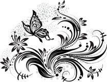 элемент конструкции флористический Стоковое Фото