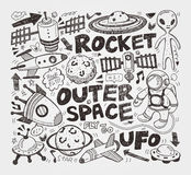Элемент космоса Doodle Стоковые Фотографии RF