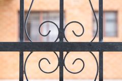 элемент ограждая металл утюга нанесённый Стоковое Фото