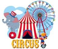 Элемент цирка на белой предпосылке бесплатная иллюстрация